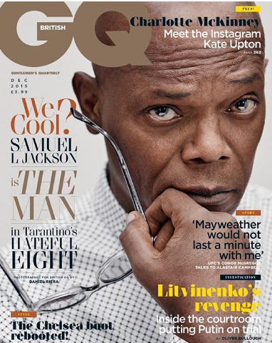 Actor Samuel L. Jackson on the cover of the GQ magazine.