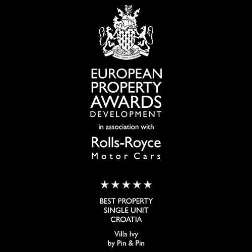 The banner of European property award for the best single property.