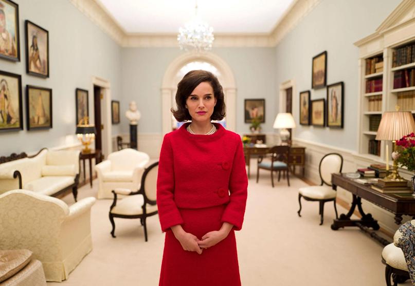 Actress Natalie Portman on the set of the movie Jackie.